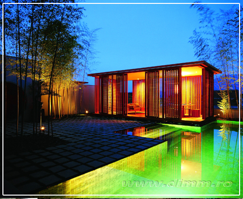 iluminat piscine, iluminat curte, gradina