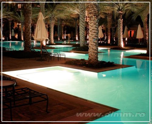 iluminat subacvatic, sub apa, iluminat piscine